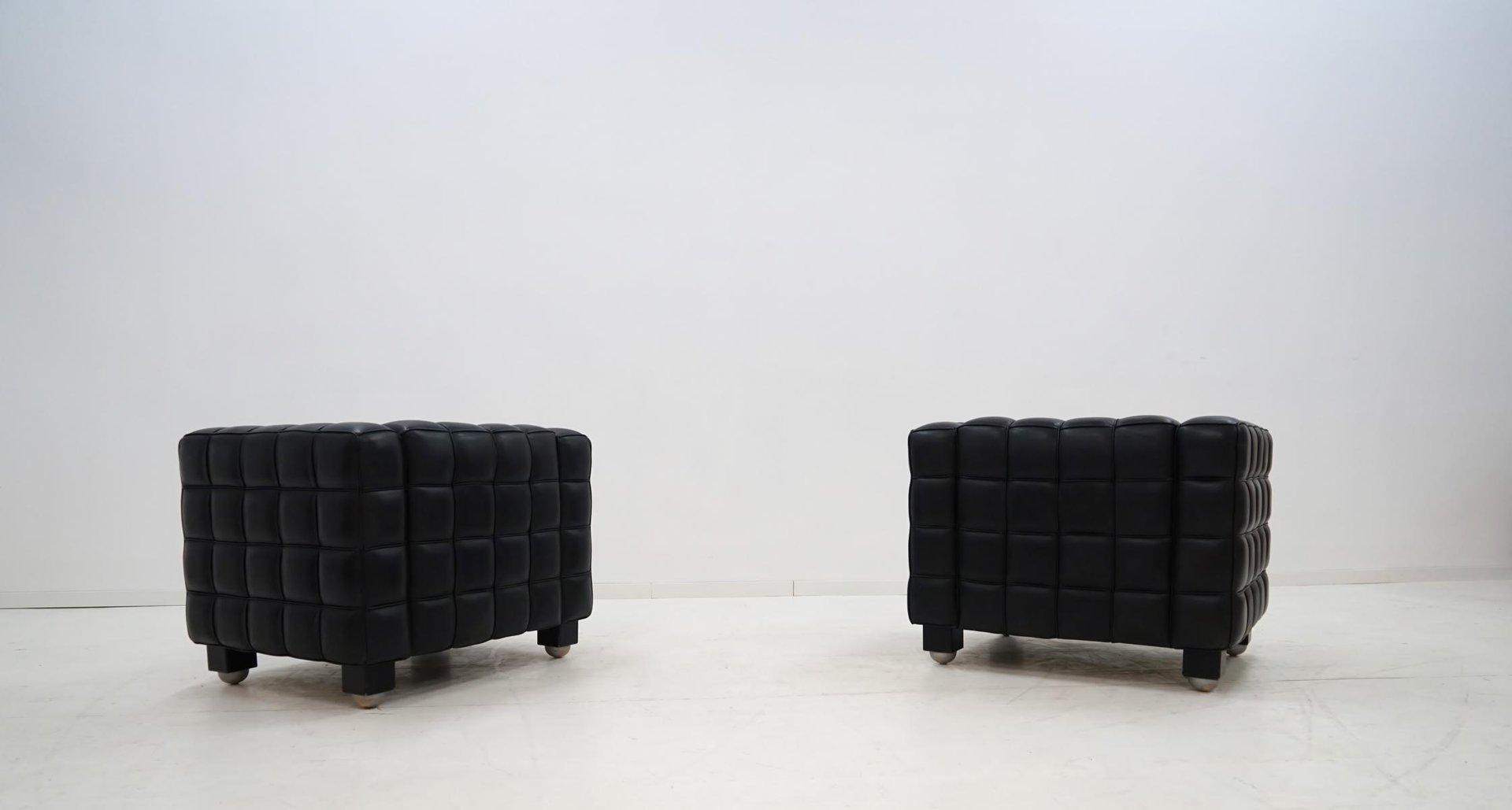 kubus sessel von josef hoffmann f r wittmann 1970er bei. Black Bedroom Furniture Sets. Home Design Ideas