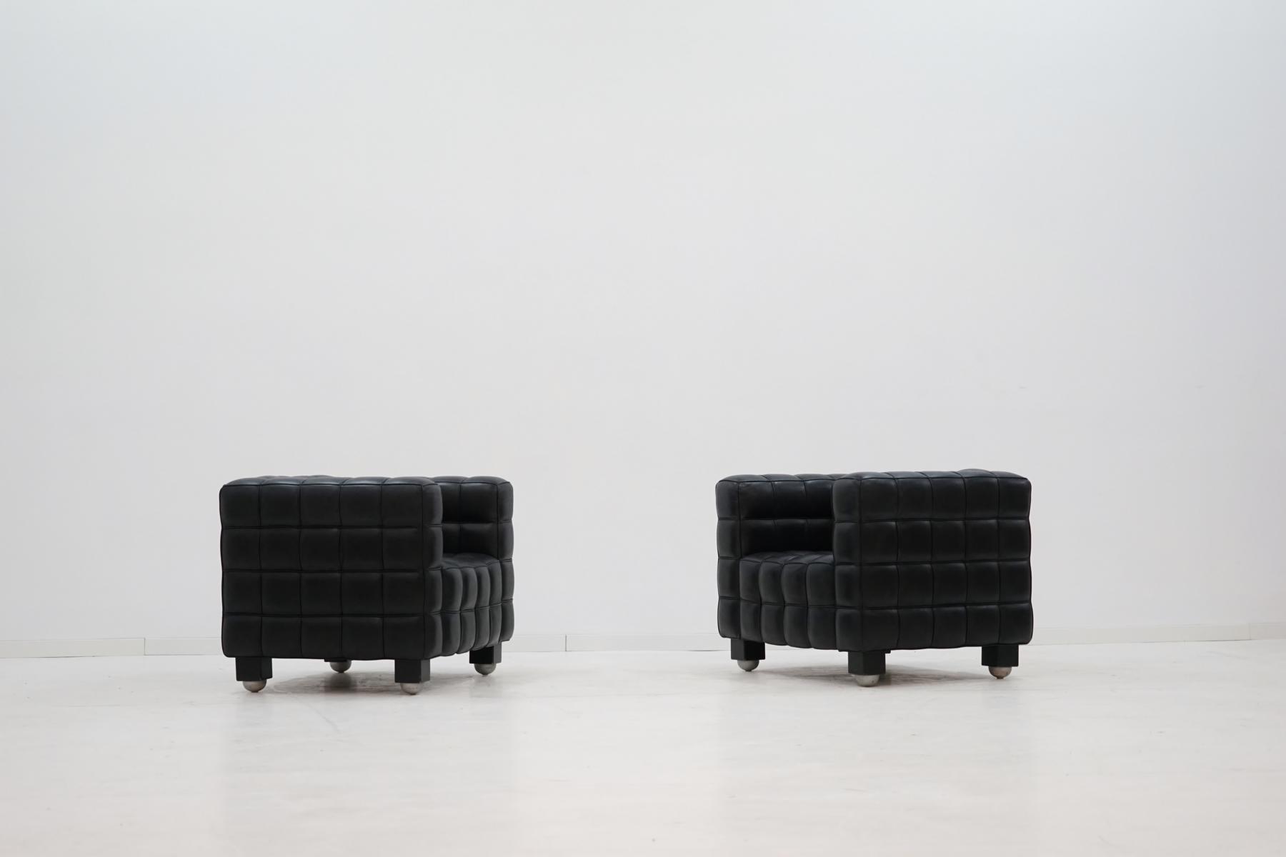 kubus sessel von josef hoffmann f r wittmann 1970er bei. Black Bedroom Furniture Sets. Home Design Ideas