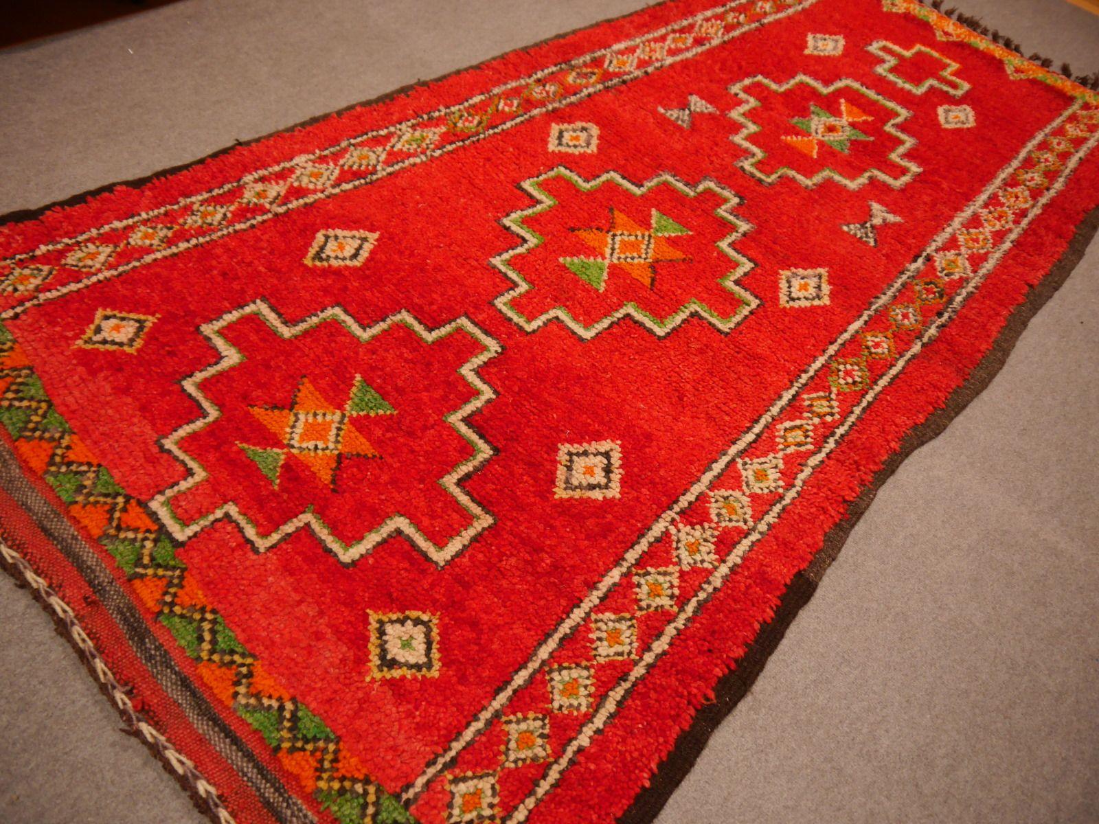 marokkanischer vintage boujad berber teppich 1970er bei. Black Bedroom Furniture Sets. Home Design Ideas