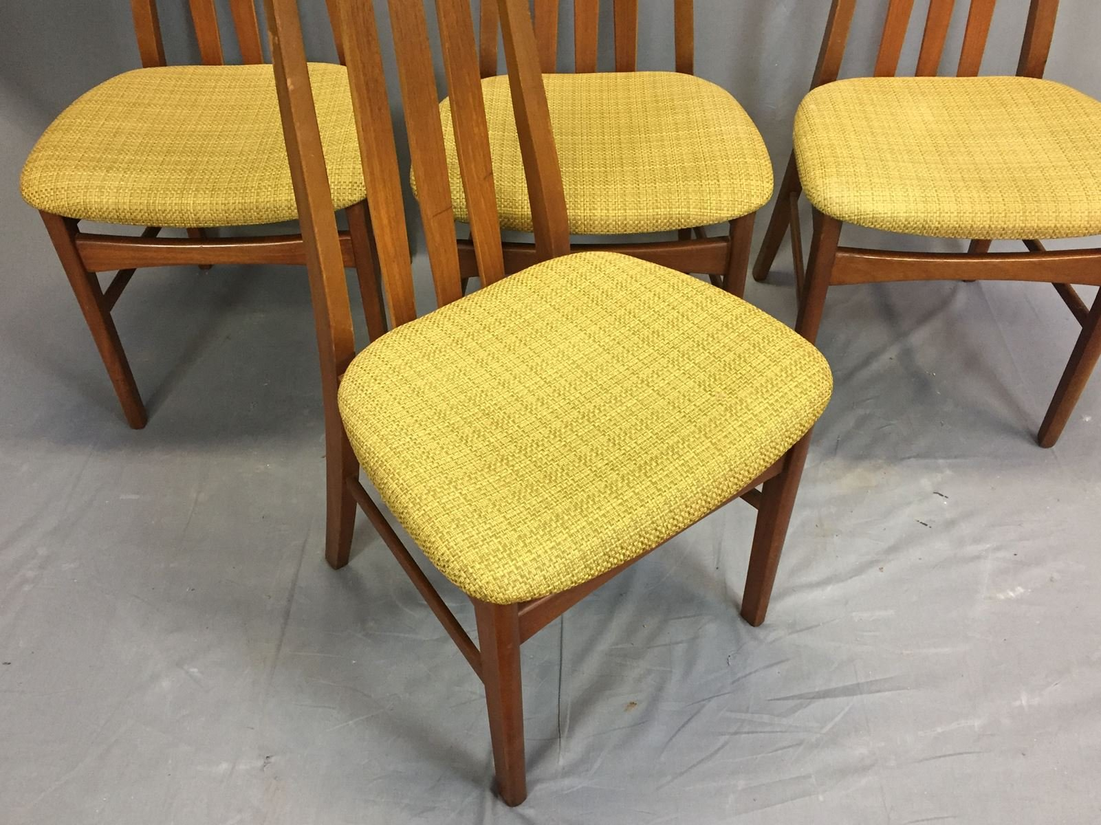 Teak Chairs 1970s Set Of 4 For Sale At Pamono