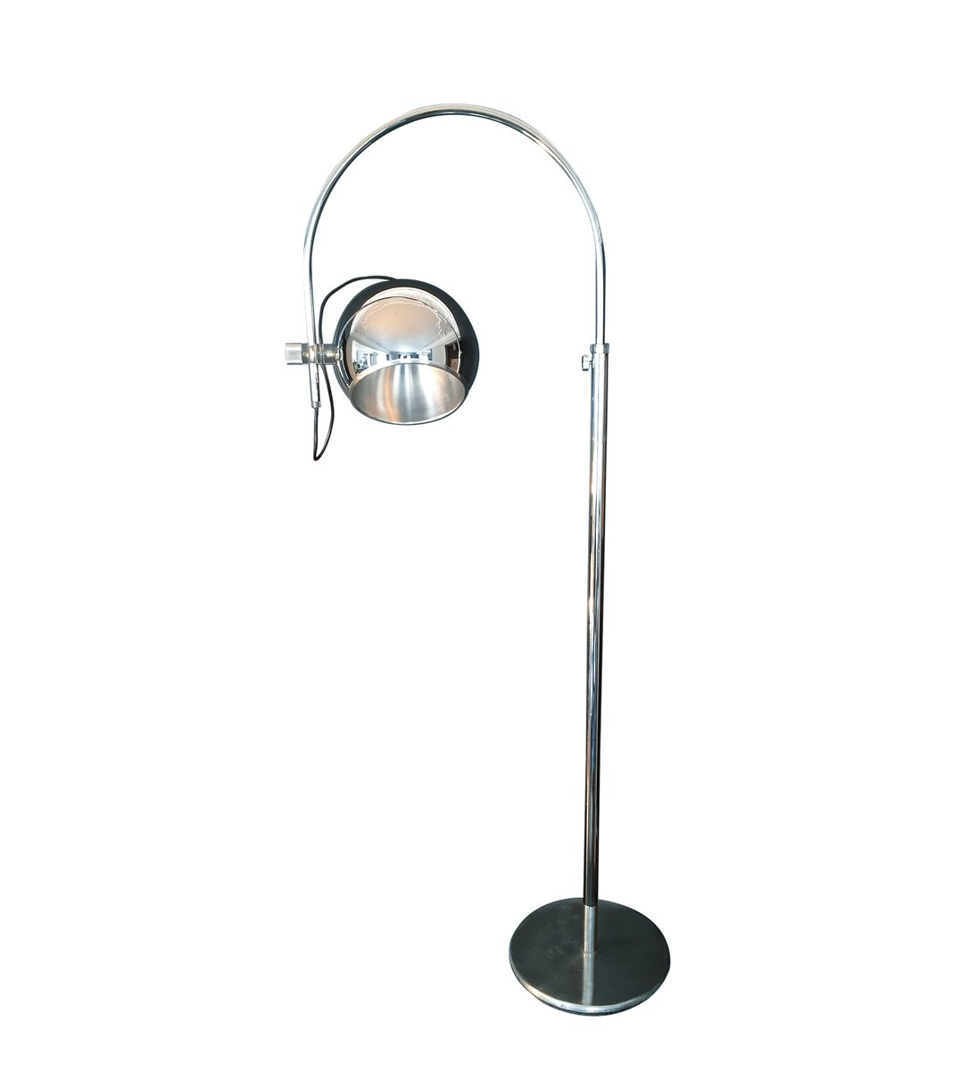 lampadaire arc eye ball en aluminium chrome plexiglas 1960s 1 5 Luxe Lampadaire En Arc Kdh6