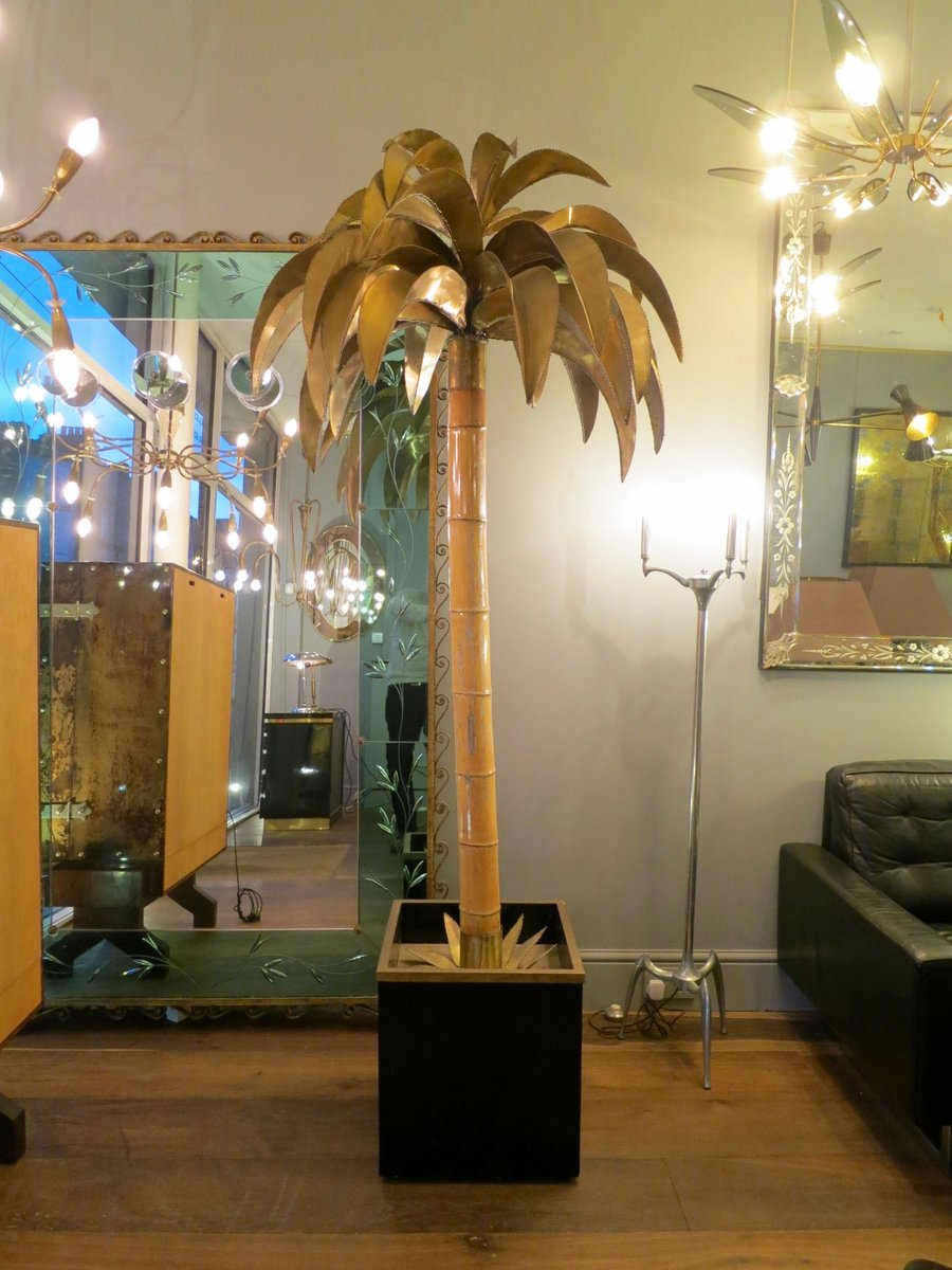 Palm Tree Floor Lamp by Maison Jansen, 1970s for sale at Pamono