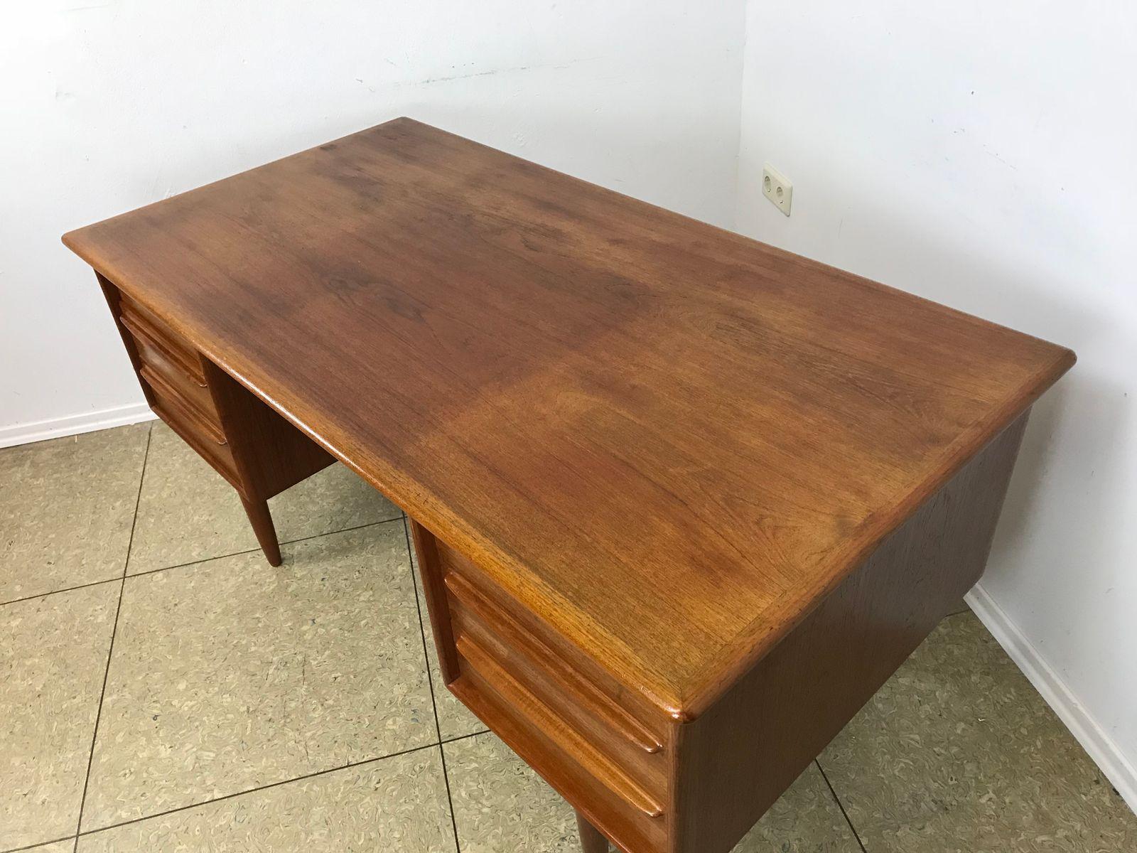 Mid Century Modern Danish Teak Writing Desk From Falster