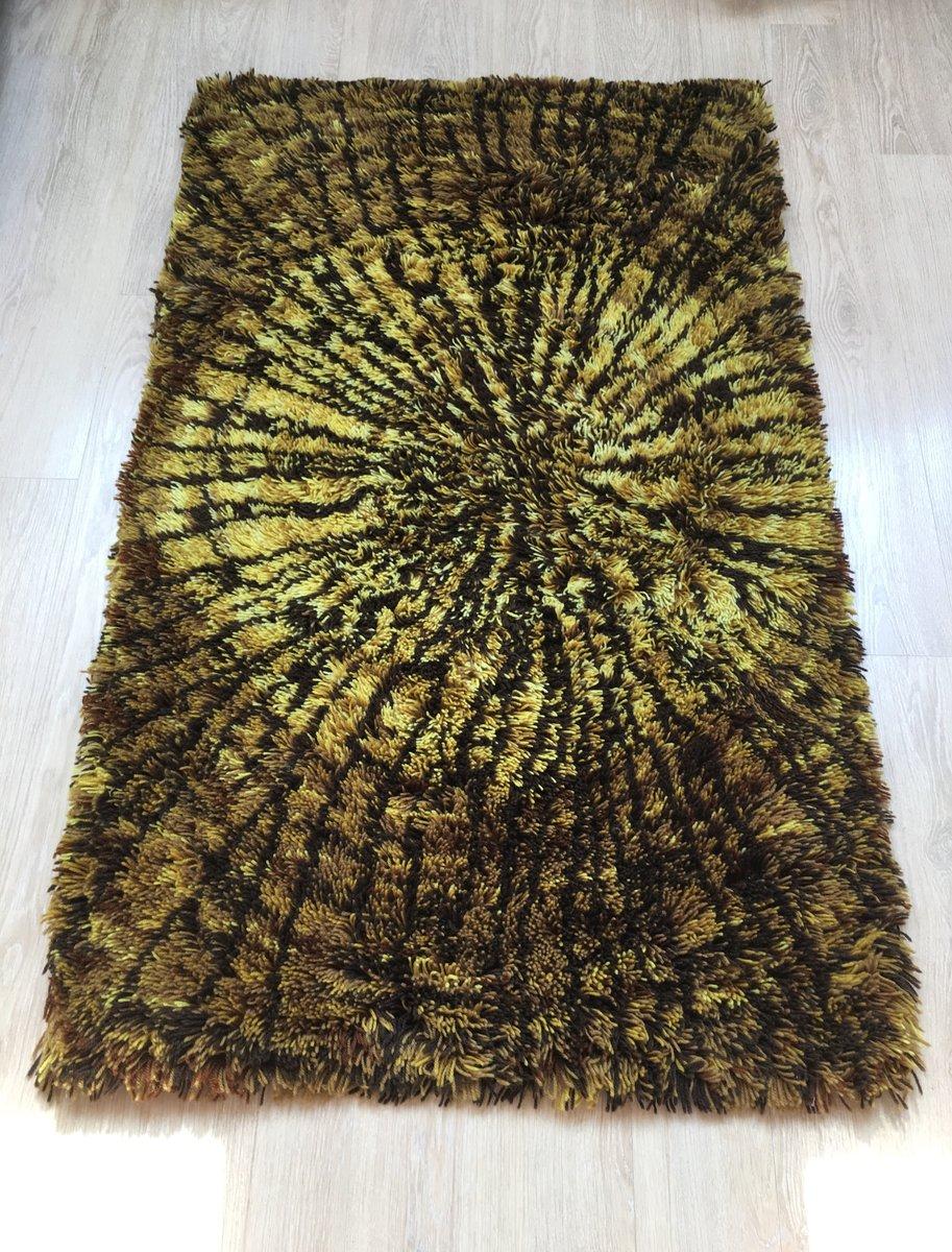 langfloriger schwedischer vintage teppich aus reiner wolle 1960er bei pamono kaufen. Black Bedroom Furniture Sets. Home Design Ideas
