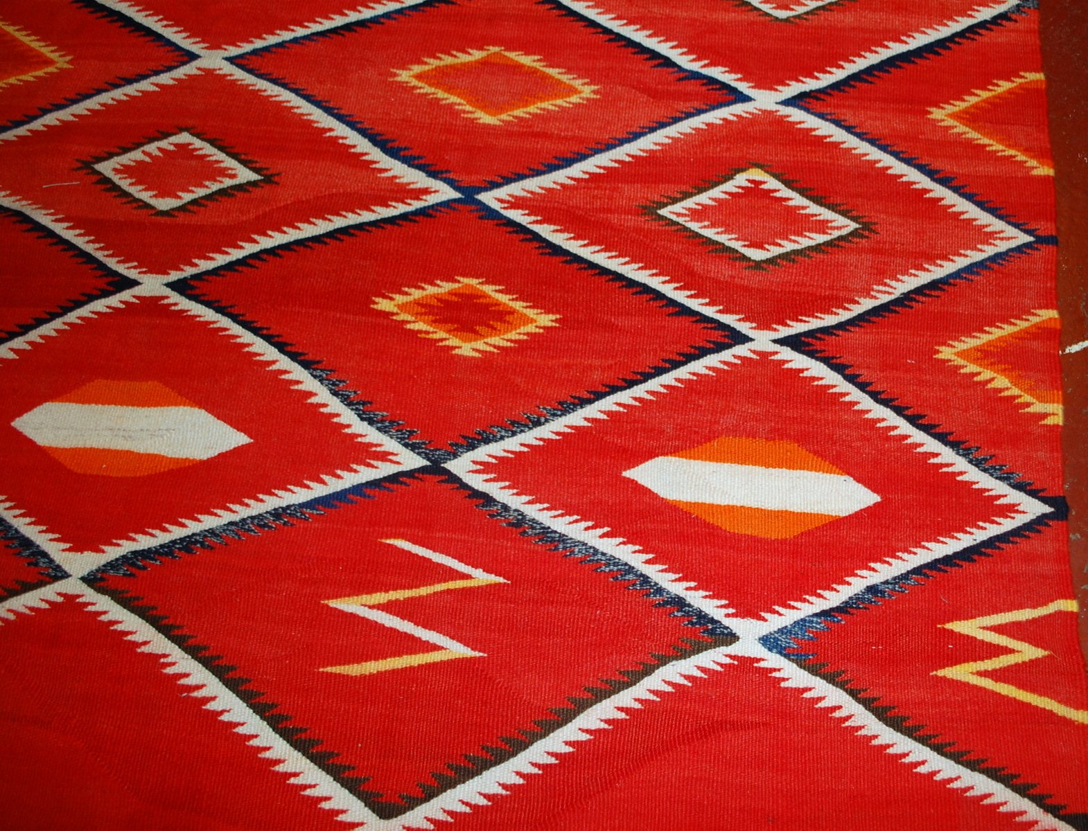 Antique Handmade Native American Navajo Rug, 1870s for sale at Pamono