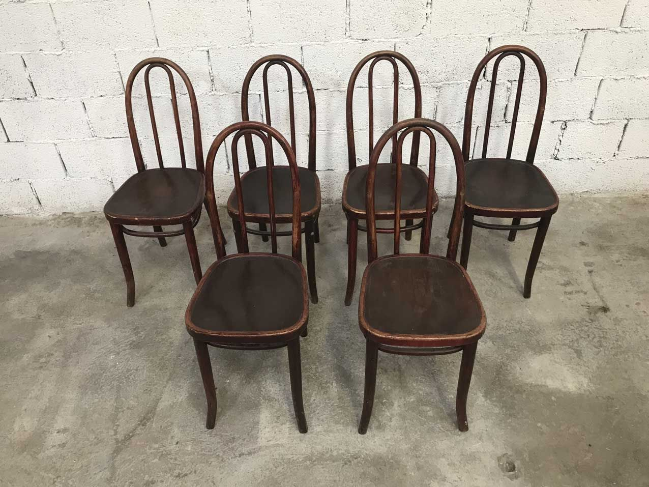 vintage bistro st hle von thonet 6er set bei pamono kaufen. Black Bedroom Furniture Sets. Home Design Ideas