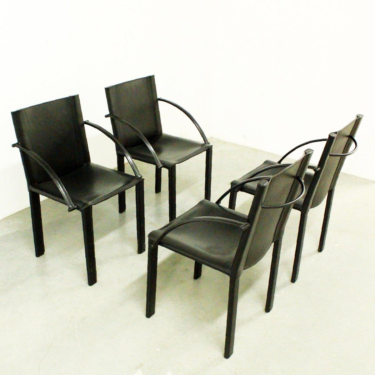 coral st hle von matteo grassi 1980er 4er set bei pamono kaufen. Black Bedroom Furniture Sets. Home Design Ideas