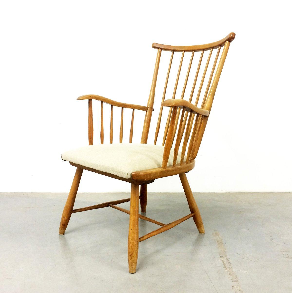 wk s7 armlehnstuhl von arno lambrecht f r wk m bel 1950er. Black Bedroom Furniture Sets. Home Design Ideas