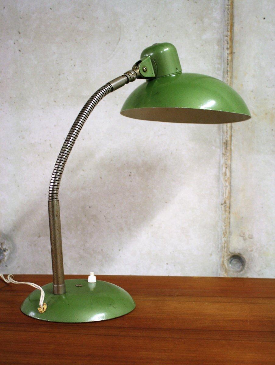 German Industrial Bauhaus Green Desk Lamp From SIS, 1950s