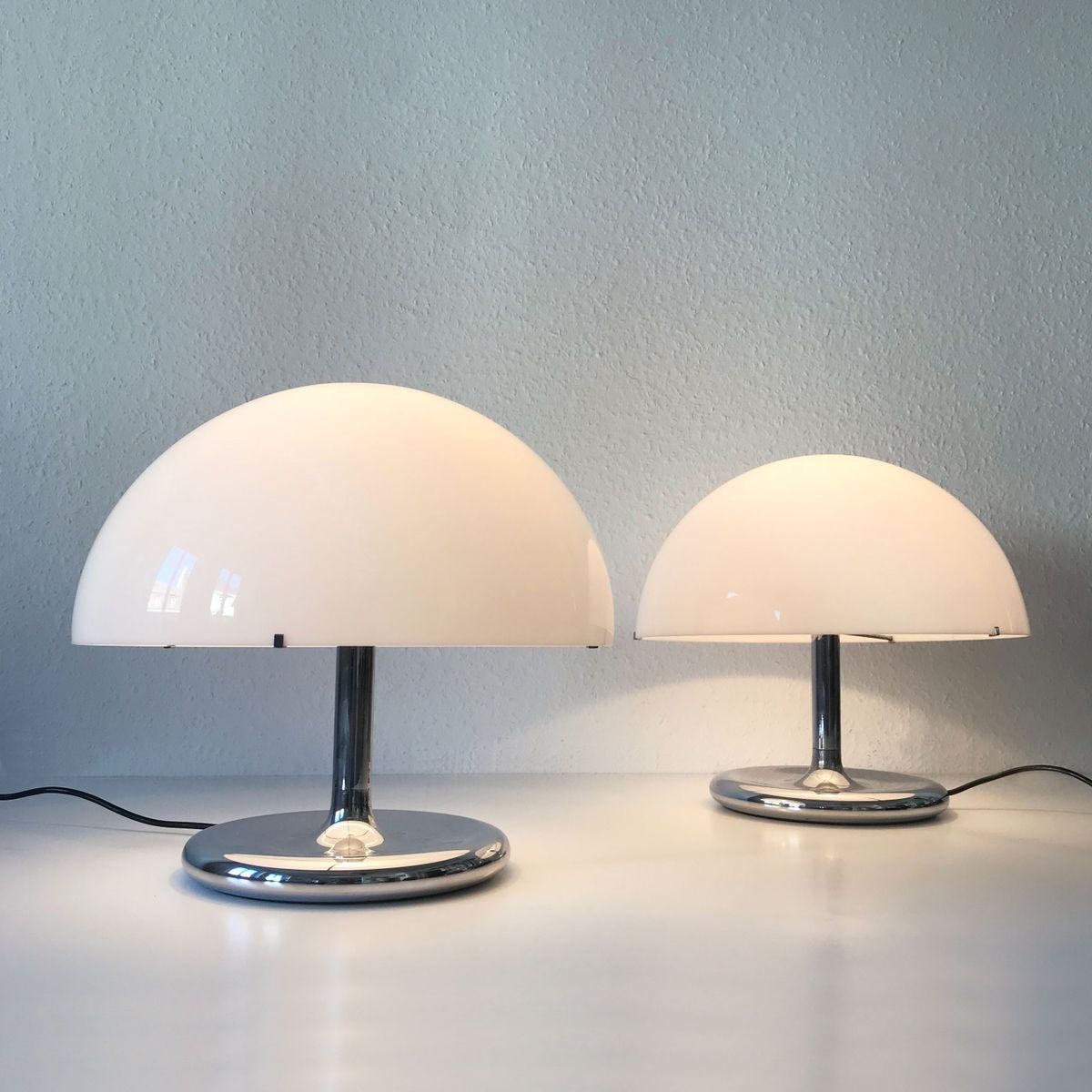 moderne mid century lampen 1970er 2er set bei pamono kaufen. Black Bedroom Furniture Sets. Home Design Ideas
