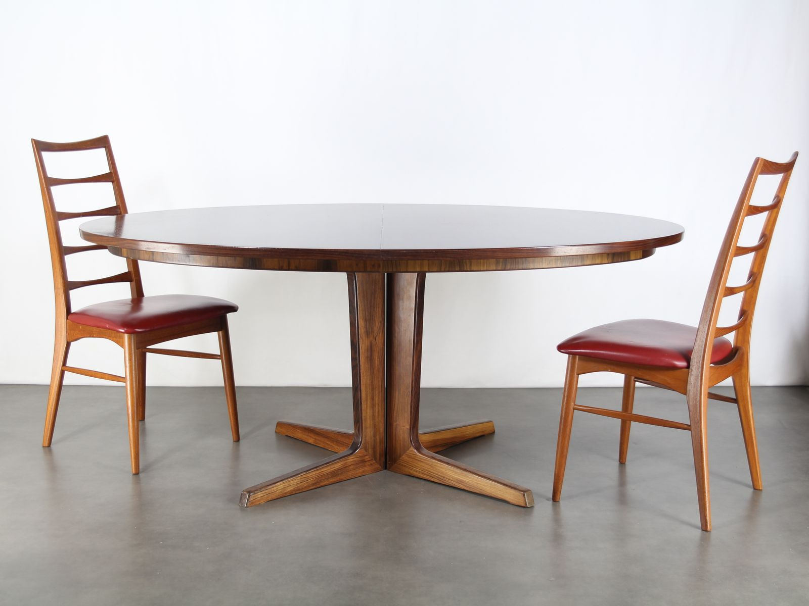 ovaler palisander esstisch von bernhard pedersen son 1960er bei pamono kaufen. Black Bedroom Furniture Sets. Home Design Ideas