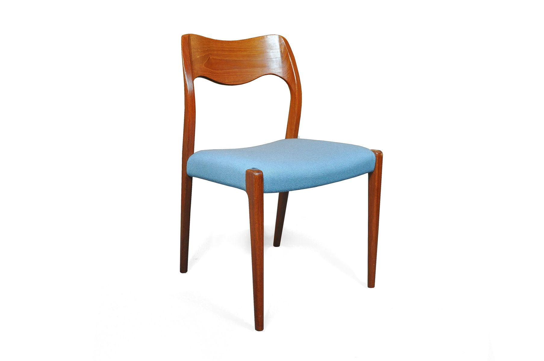 Vintage dining chairs by niels otto møller set of