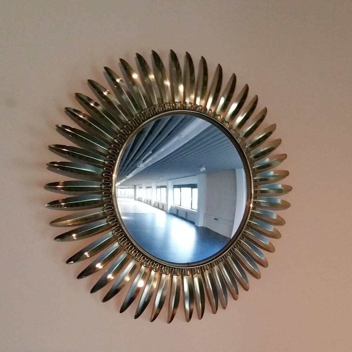Specchio a forma di sole in ottone di deknudt anni 39 70 in vendita su pamono - Specchio a forma di sole ...