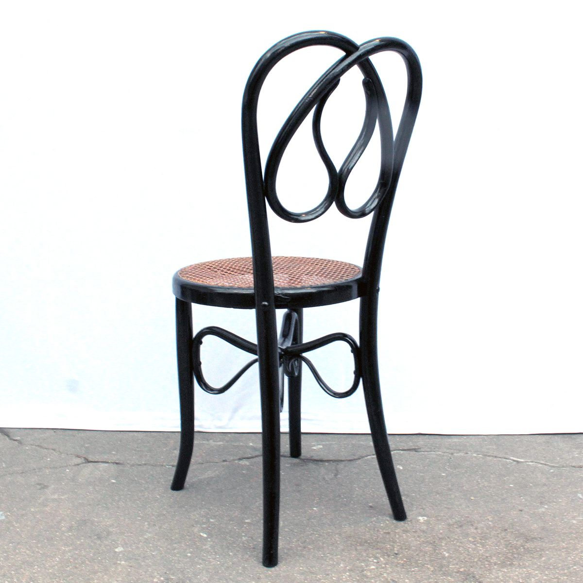 st hle aus scharz lackiertem holz 4er set bei pamono kaufen. Black Bedroom Furniture Sets. Home Design Ideas
