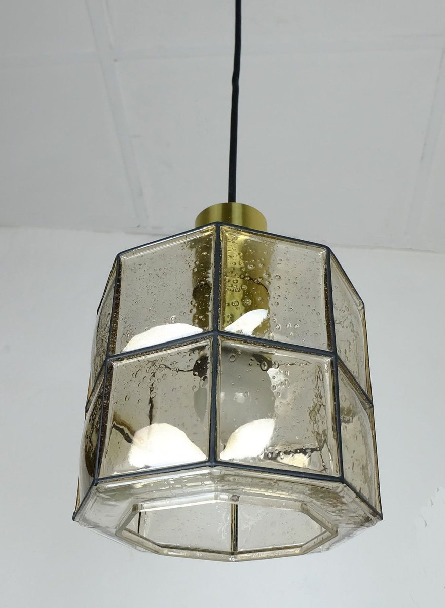 achteckige h ngelampe aus glas von glash tte limburg. Black Bedroom Furniture Sets. Home Design Ideas