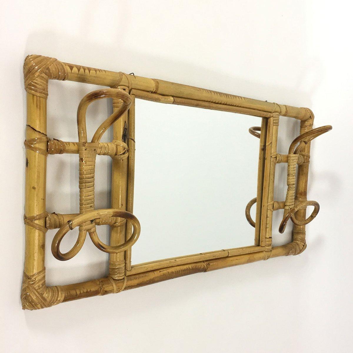 Attaccapanni vintage in vimini con specchio in vendita su for Attaccapanni vintage