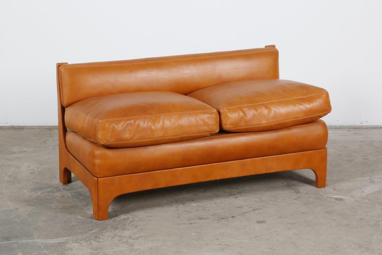 vintage ledersofa 1970er bei pamono kaufen. Black Bedroom Furniture Sets. Home Design Ideas