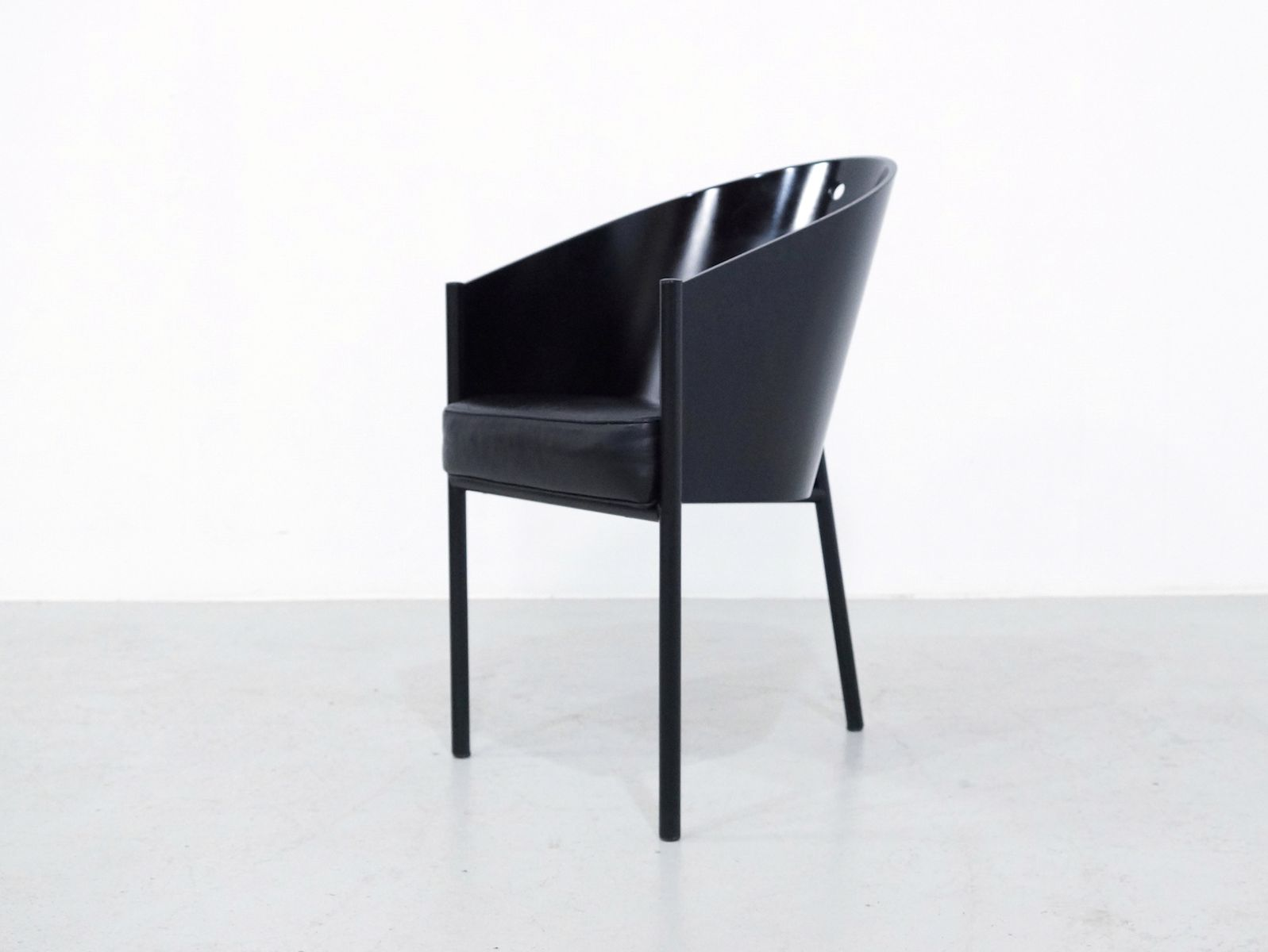 Black Costes Chairs By Philippe Starck For Driade Set Of