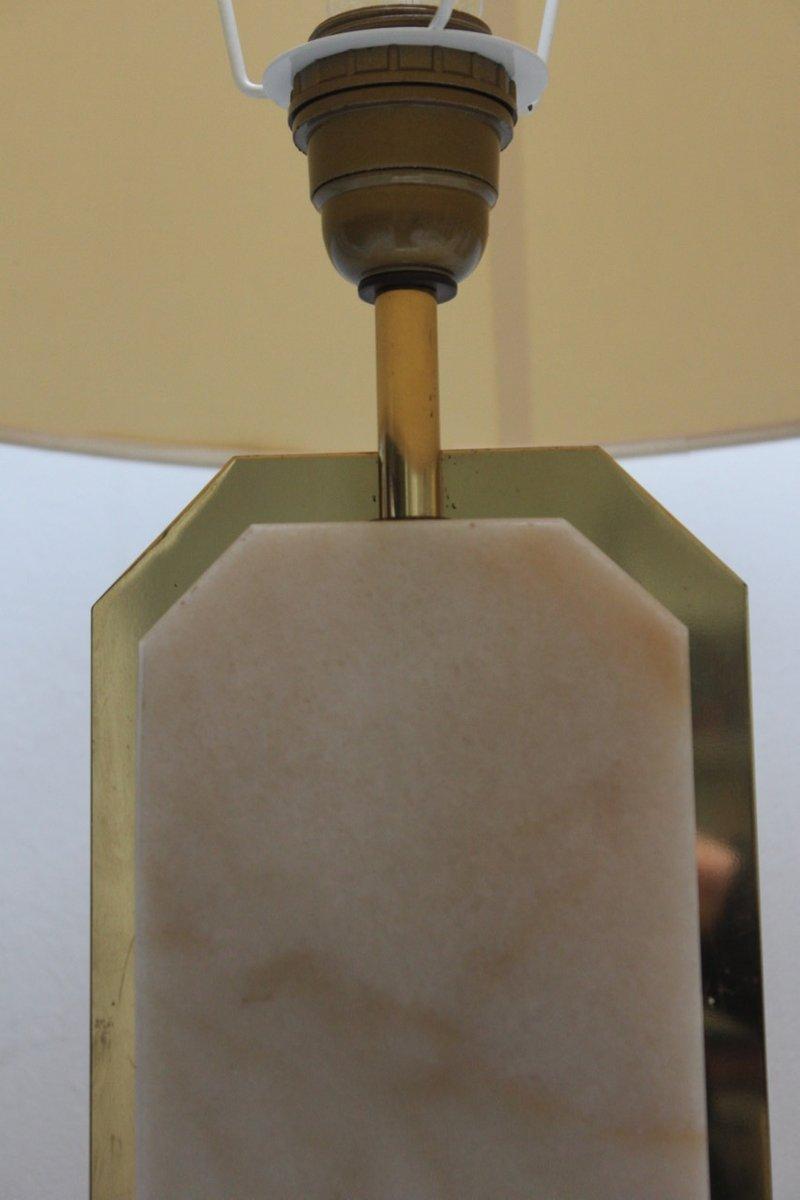 tischlampe aus marmor messing 1970er bei pamono kaufen. Black Bedroom Furniture Sets. Home Design Ideas