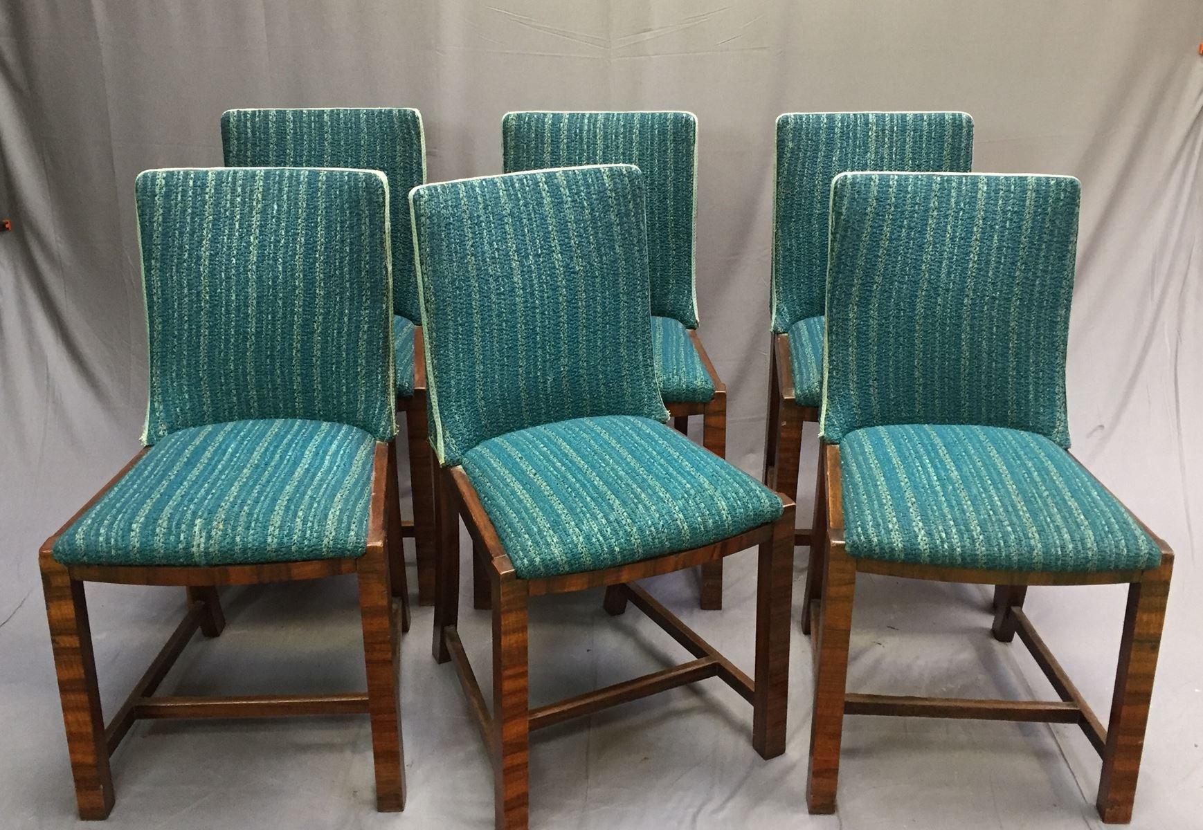 vintage mahagoni esszimmerst hle 6er set bei pamono kaufen. Black Bedroom Furniture Sets. Home Design Ideas