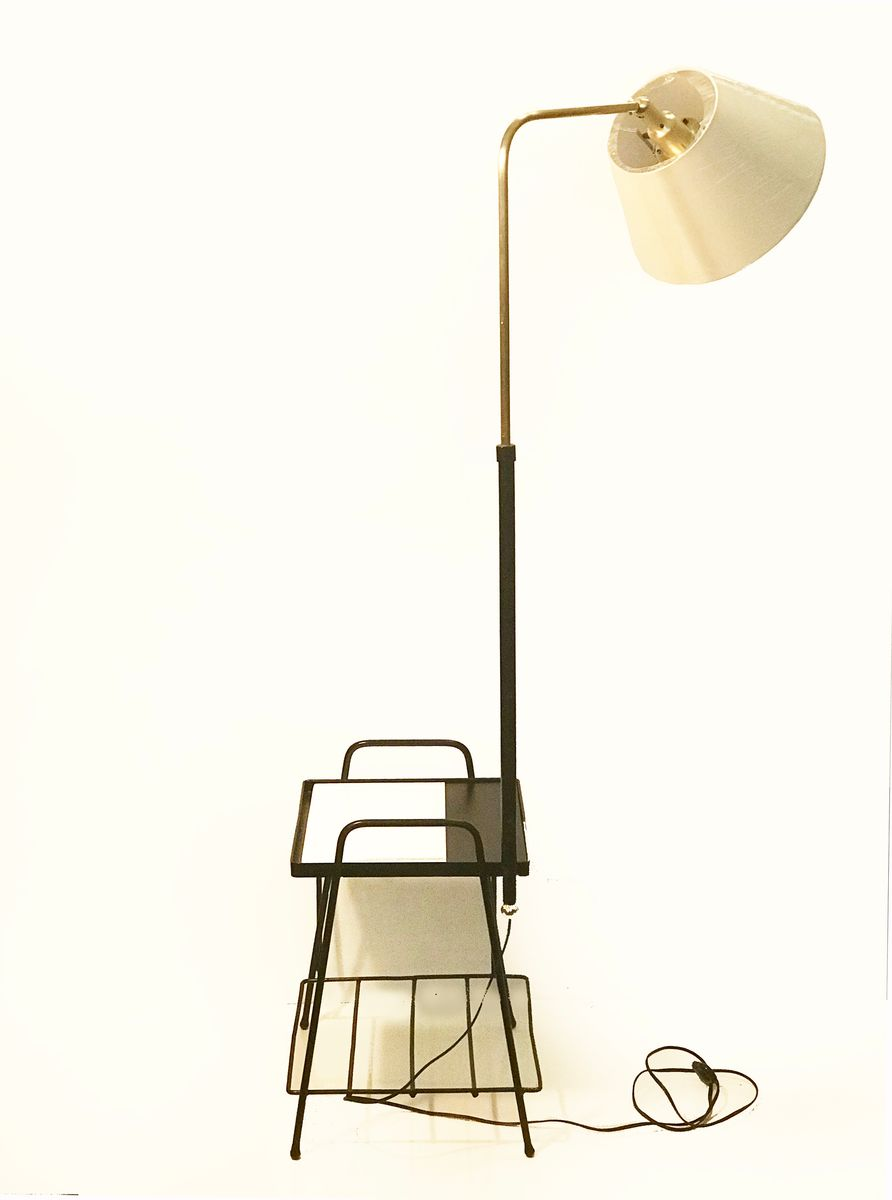 French floor lamp with table 1950s for sale at pamono for Floor in french translation