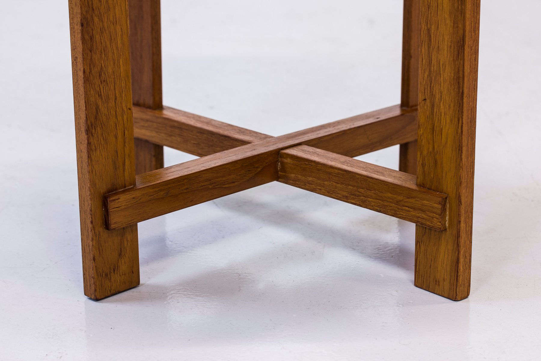Teak Stool by Uno & Östen Kristiansson for Luxus, 1960s for sale at ...