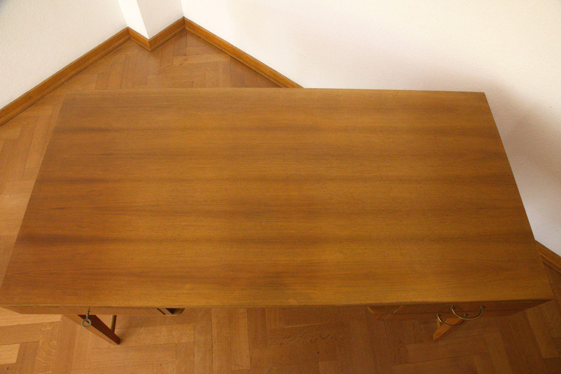 mid century 468 walnuss schreibtisch von georg satink f r wk m bel 1950er bei pamono kaufen. Black Bedroom Furniture Sets. Home Design Ideas