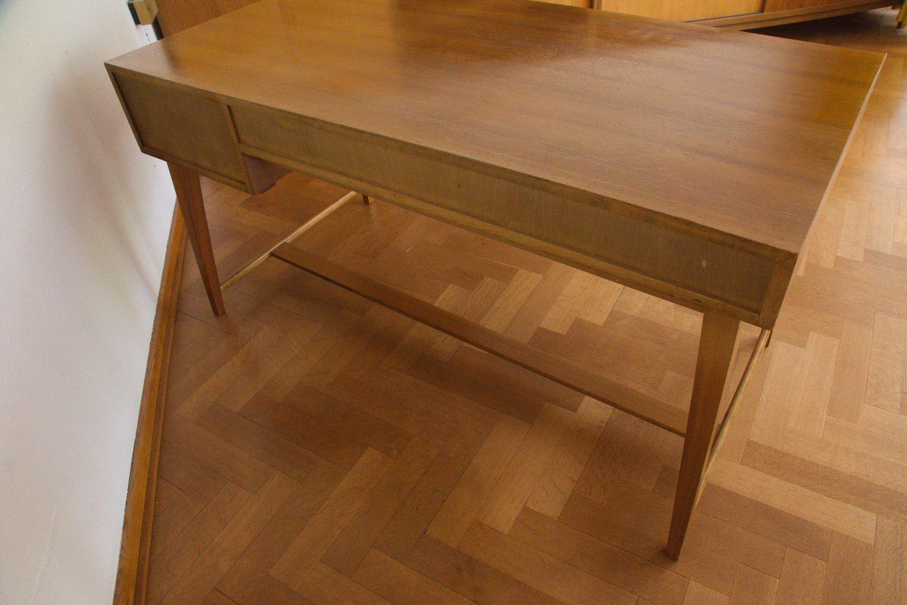 mid century 468 walnuss schreibtisch von georg satink f r. Black Bedroom Furniture Sets. Home Design Ideas