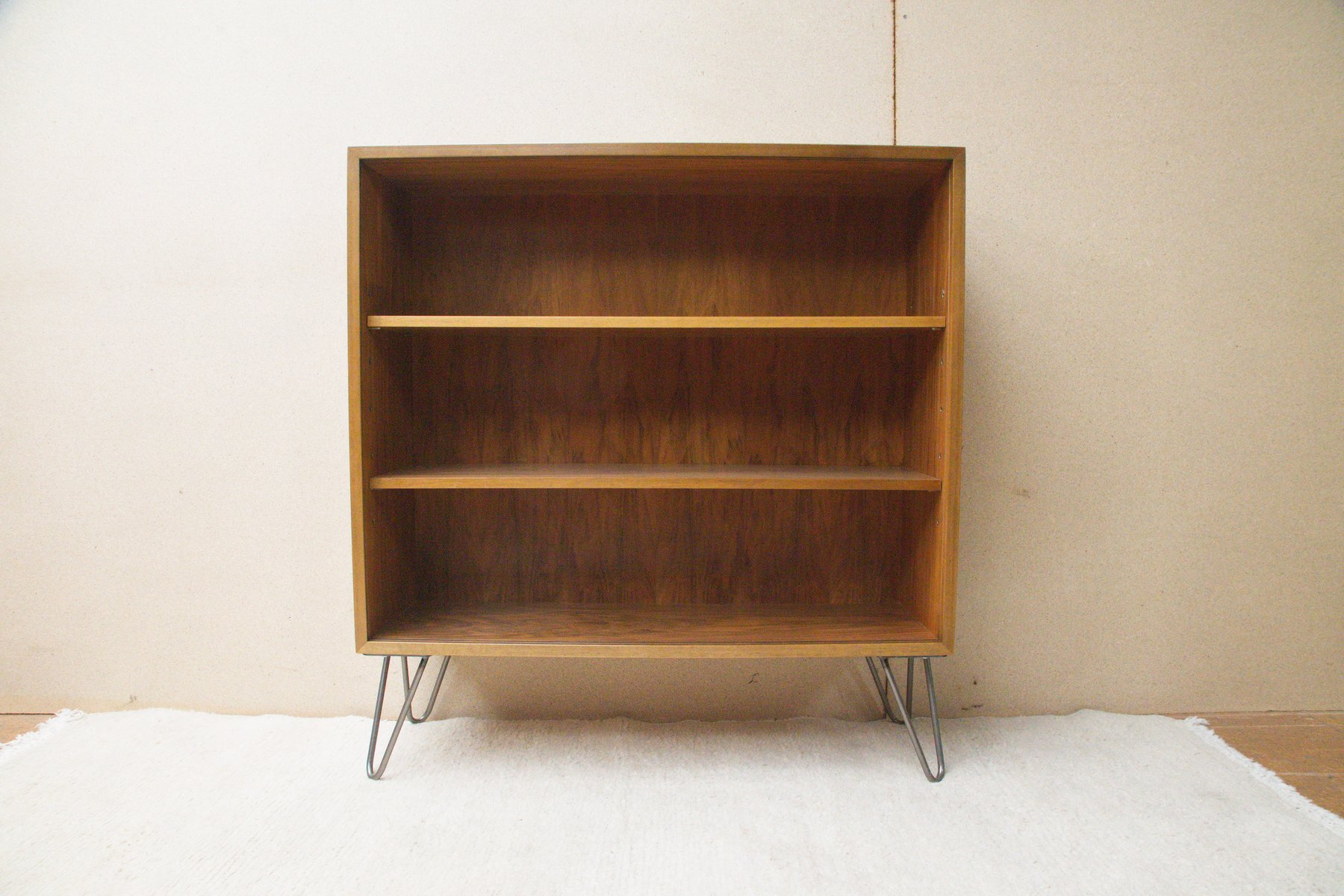 vintage bookshelf in walnut by georg satink for wk m bel 1950s for sale at pamono. Black Bedroom Furniture Sets. Home Design Ideas
