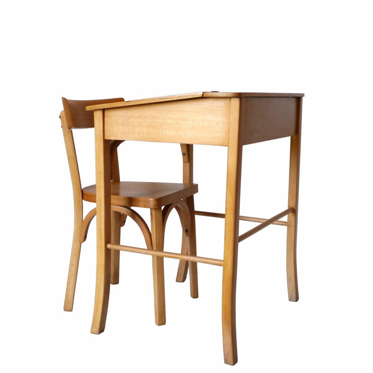 kinder schreibtisch und stuhl von baumann 1960er bei pamono kaufen. Black Bedroom Furniture Sets. Home Design Ideas