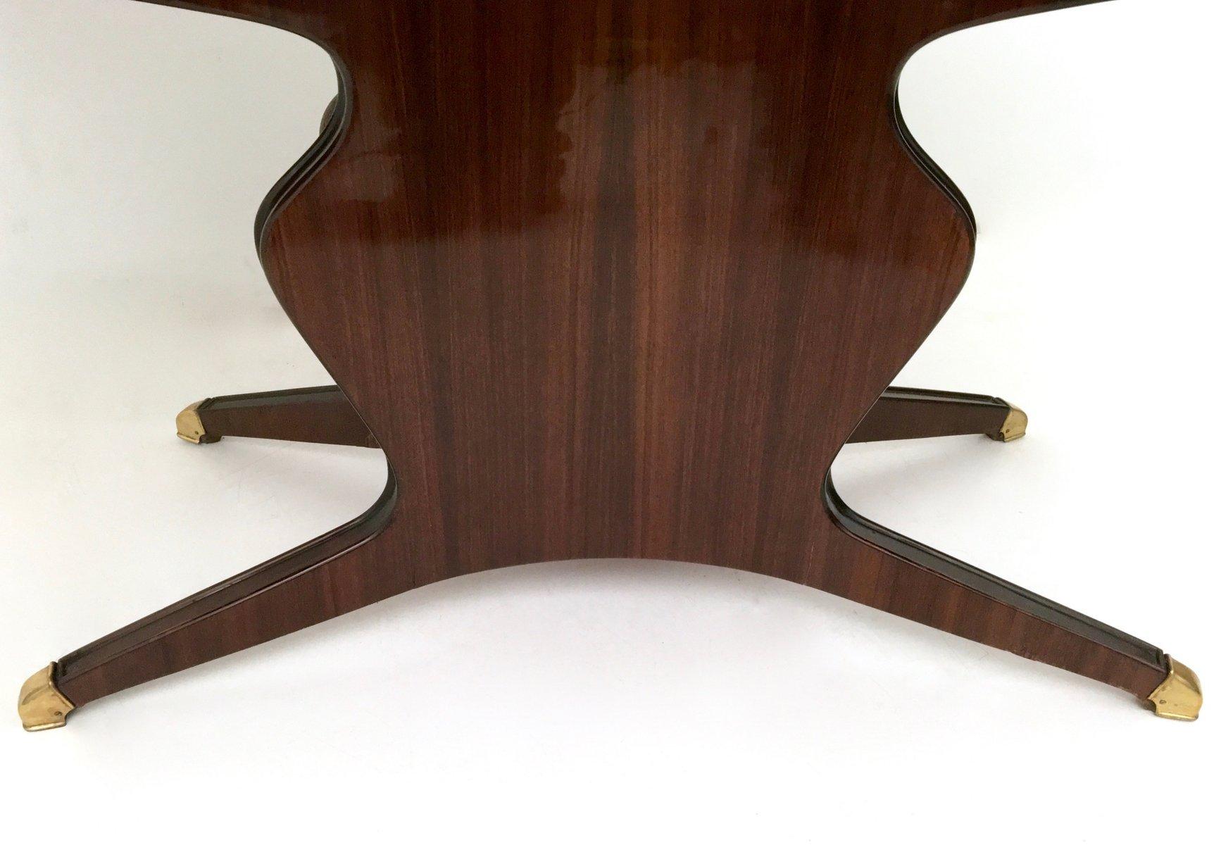 h lzerner esstisch mit tischplatte aus carrara marmor von osvaldo borsani 1950er bei pamono kaufen. Black Bedroom Furniture Sets. Home Design Ideas