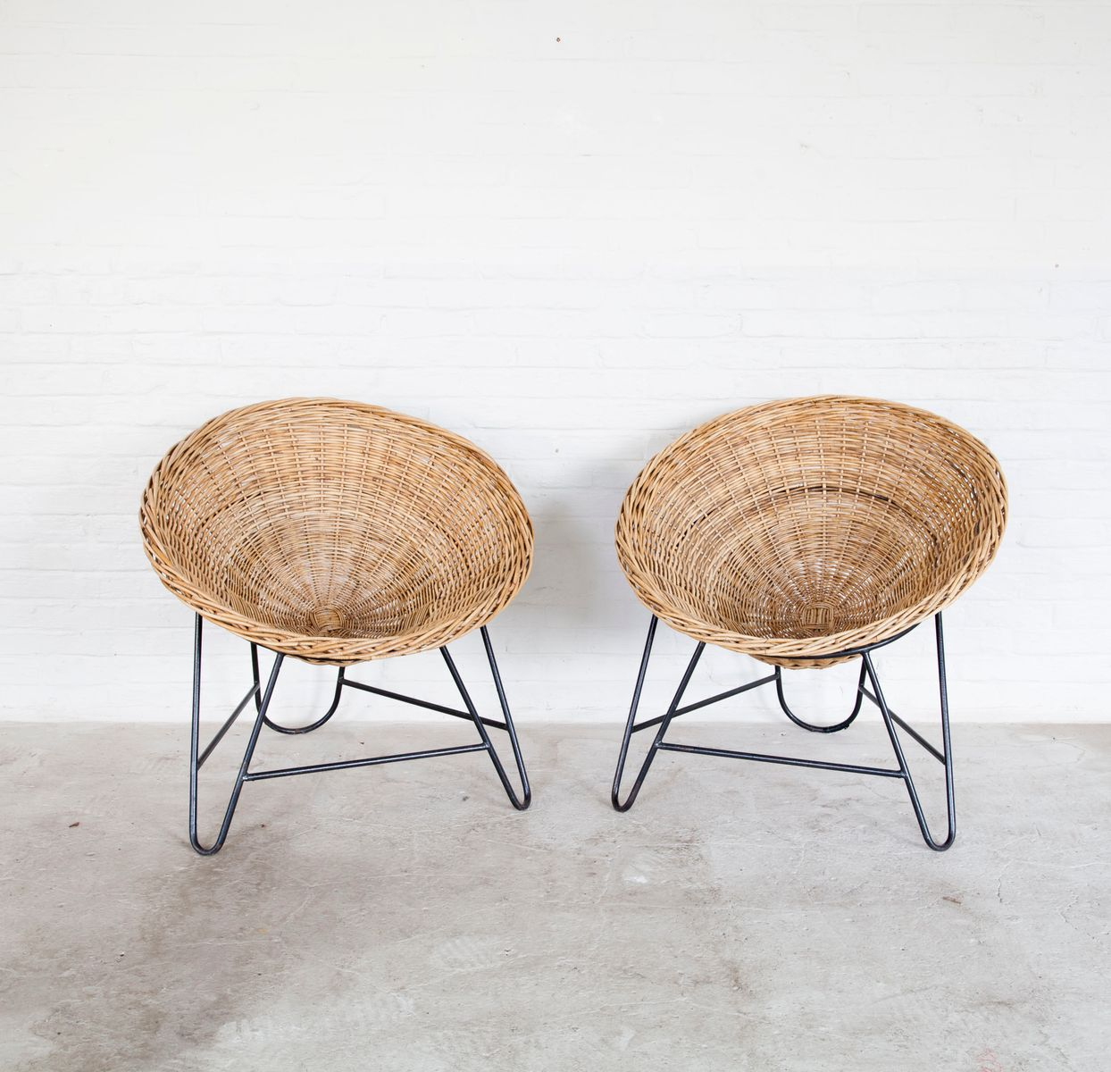 woven metal furniture. Vintage Woven Rattan Chairs With Metal Bases, Set Of 2 Furniture V