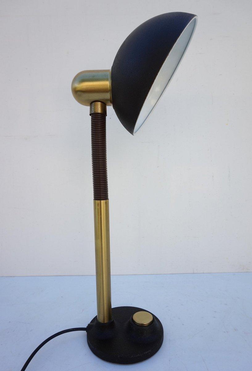 Mid Century Metall& Messing Schreibtischlampe von Hillebrand bei Pamono kaufen