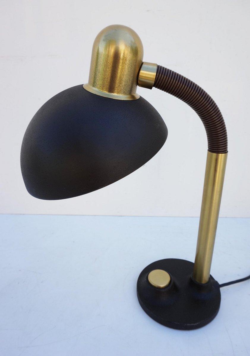 Mid Century Metall& Messing Schreibtischlampe von Hillebrand bei Pamono ka