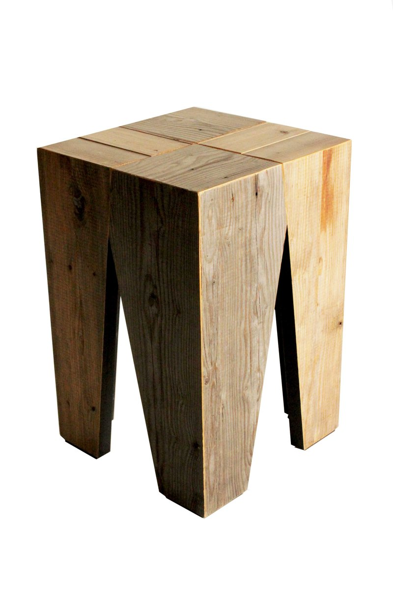holzhocker von marco caliandro bei pamono kaufen. Black Bedroom Furniture Sets. Home Design Ideas