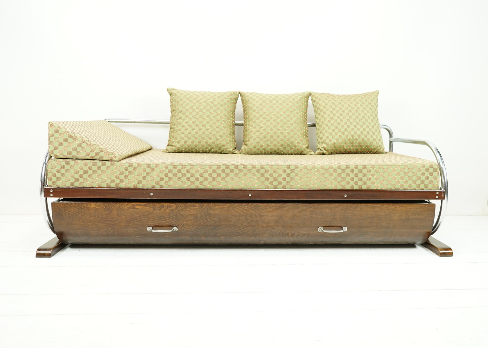 Bauhaus daybed sofa with bed drawer from gottwald for sale for Bauhaus sofa bed