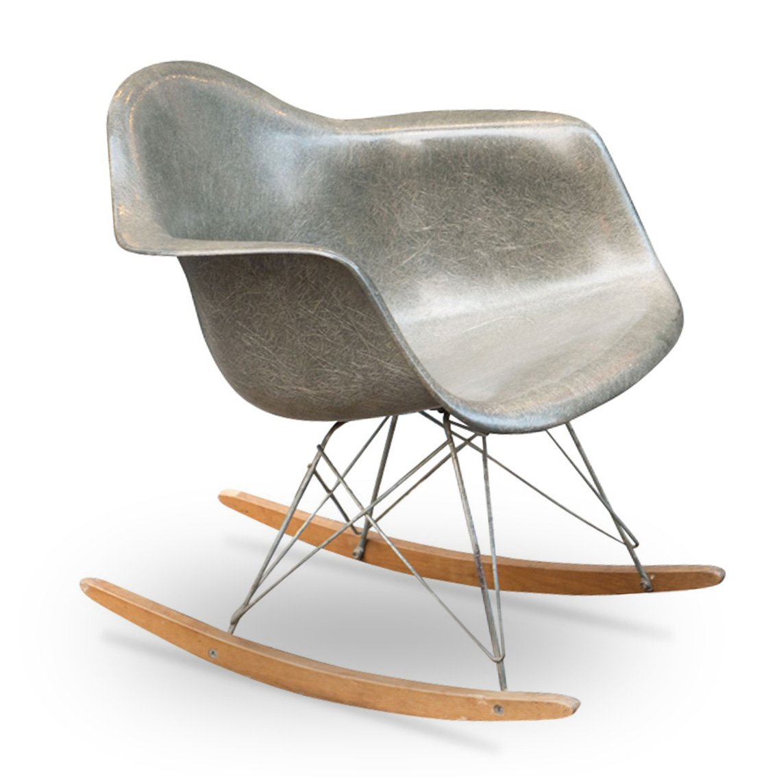 vintage rocking chair by charles ray eames for herman miller 1950s for sale at pamono. Black Bedroom Furniture Sets. Home Design Ideas