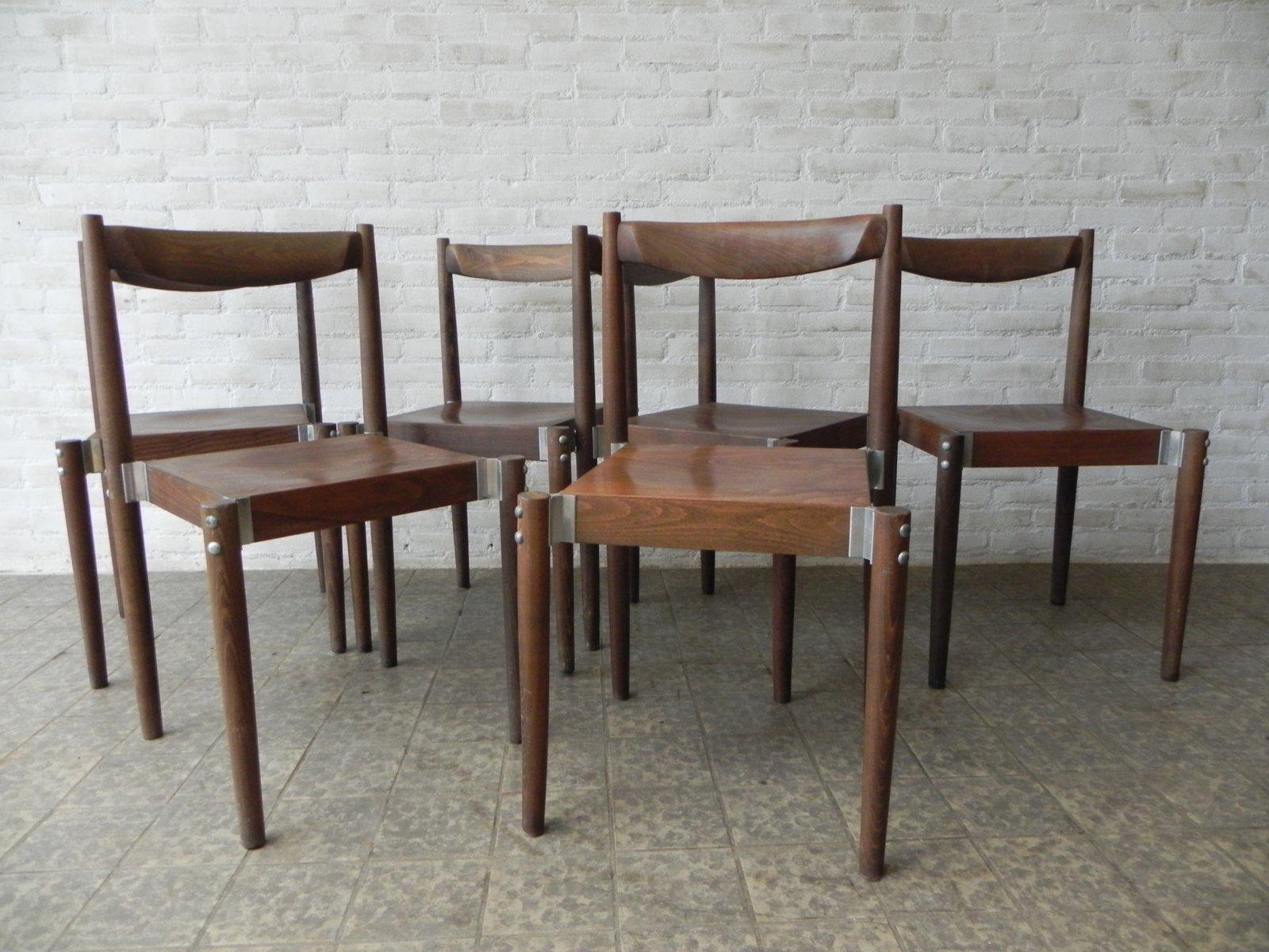 tschechische esszimmerst hle 1970er 6er set bei pamono. Black Bedroom Furniture Sets. Home Design Ideas