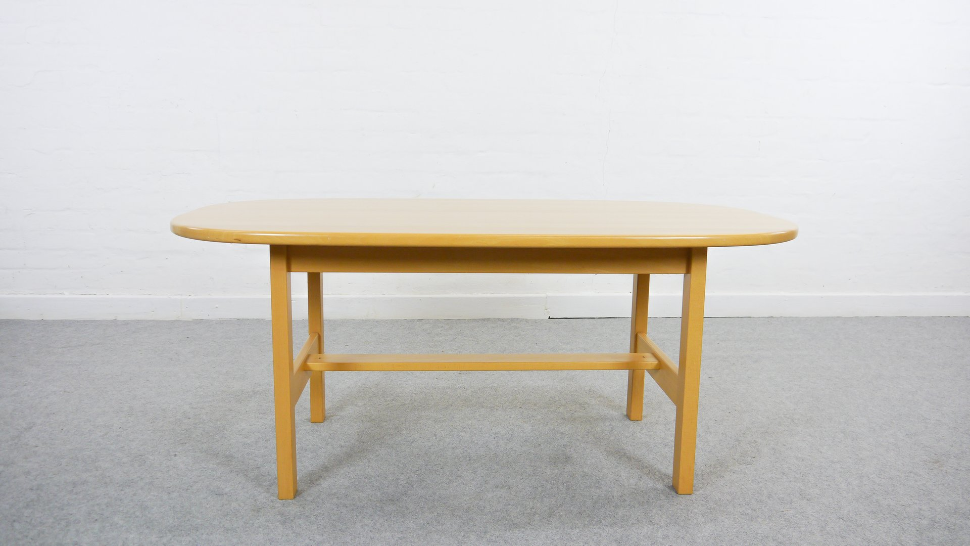 Vintage BoatShaped Coffee Table by Yngve Ekstrm for Swedese for