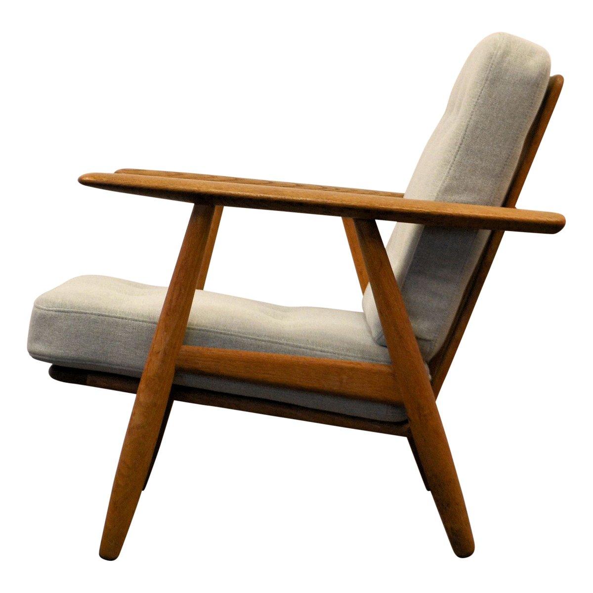 vintage cigar ge 240 sessel in eiche von hans j wegner. Black Bedroom Furniture Sets. Home Design Ideas