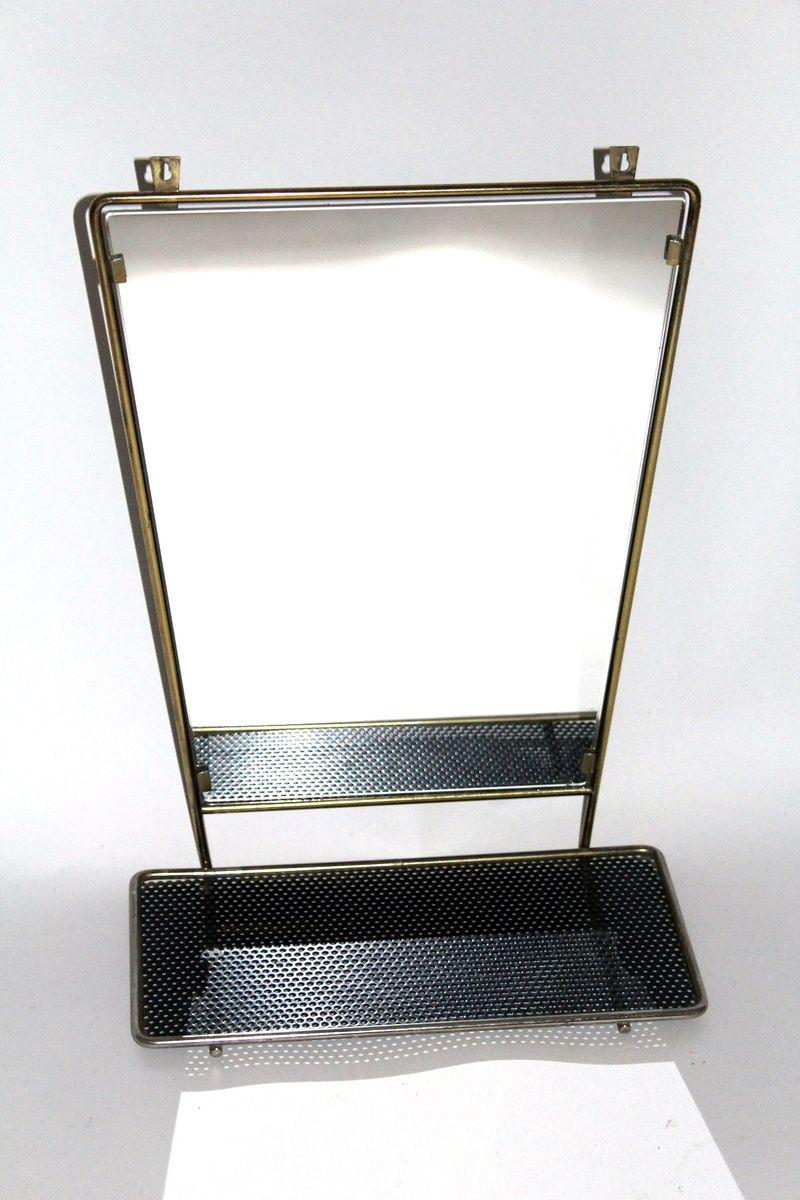 vintage wandspiegel mit ablage bei pamono kaufen. Black Bedroom Furniture Sets. Home Design Ideas