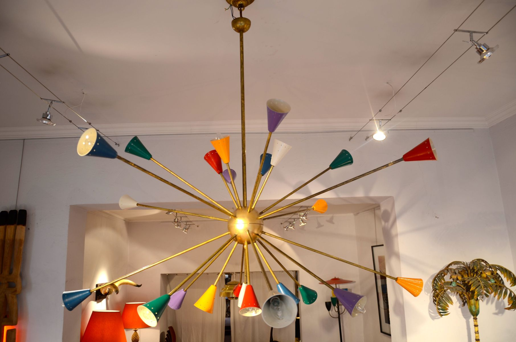 Vintage 24 armed sputnik chandelier from stilnovo for sale at pamono mozeypictures Image collections