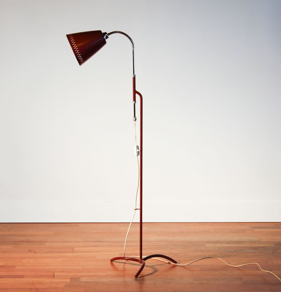 Bordeaux red floor lamp by hans bergstrm 1950s for sale at pamono previous aloadofball Gallery