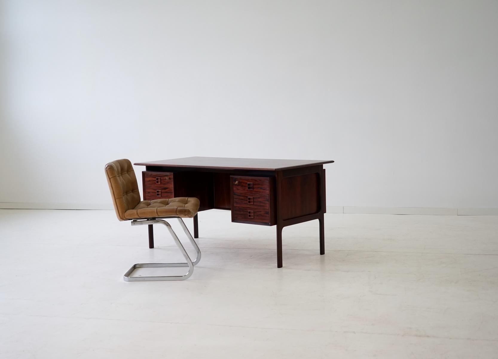 vintage palisander schreibtisch bei pamono kaufen. Black Bedroom Furniture Sets. Home Design Ideas