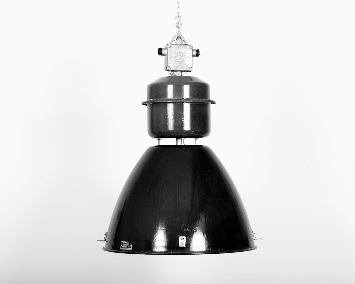 Superior Czech Vintage Industrial Lamp From Elektrosvit