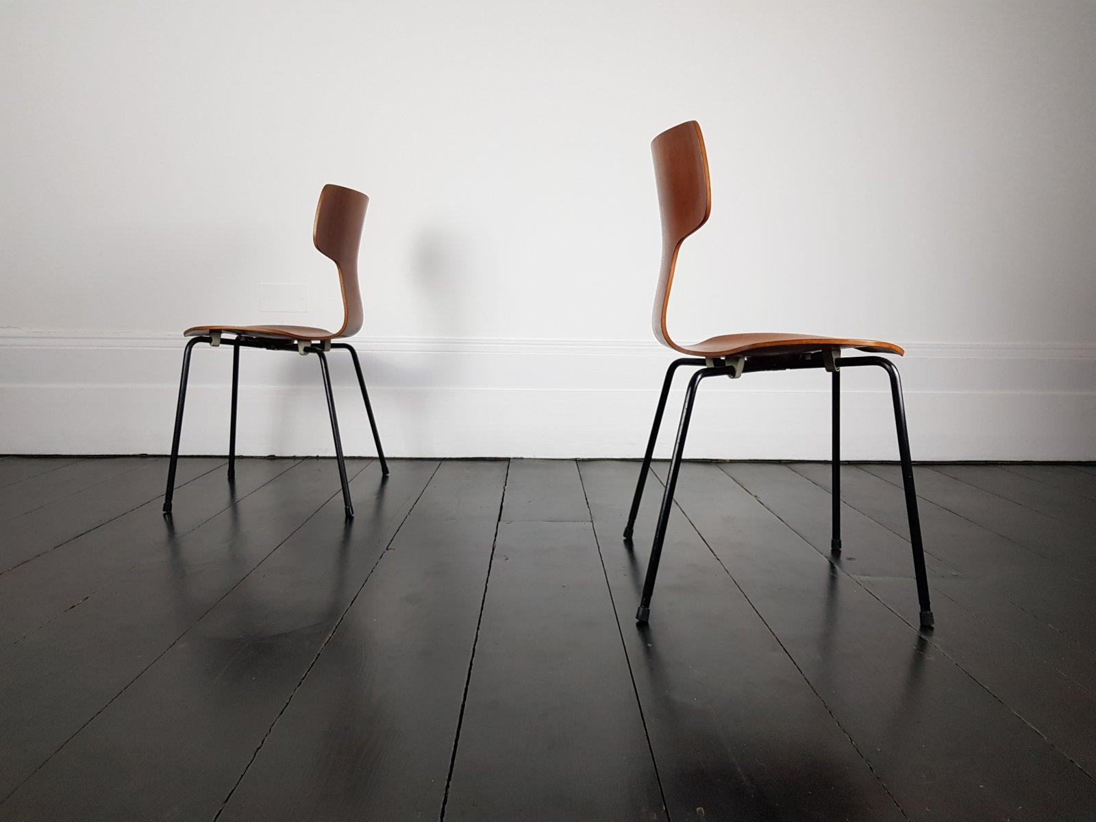 modell 3103 hammer st hle von arne jacobsen f r fritz hansen 1960er 2er set bei pamono kaufen. Black Bedroom Furniture Sets. Home Design Ideas
