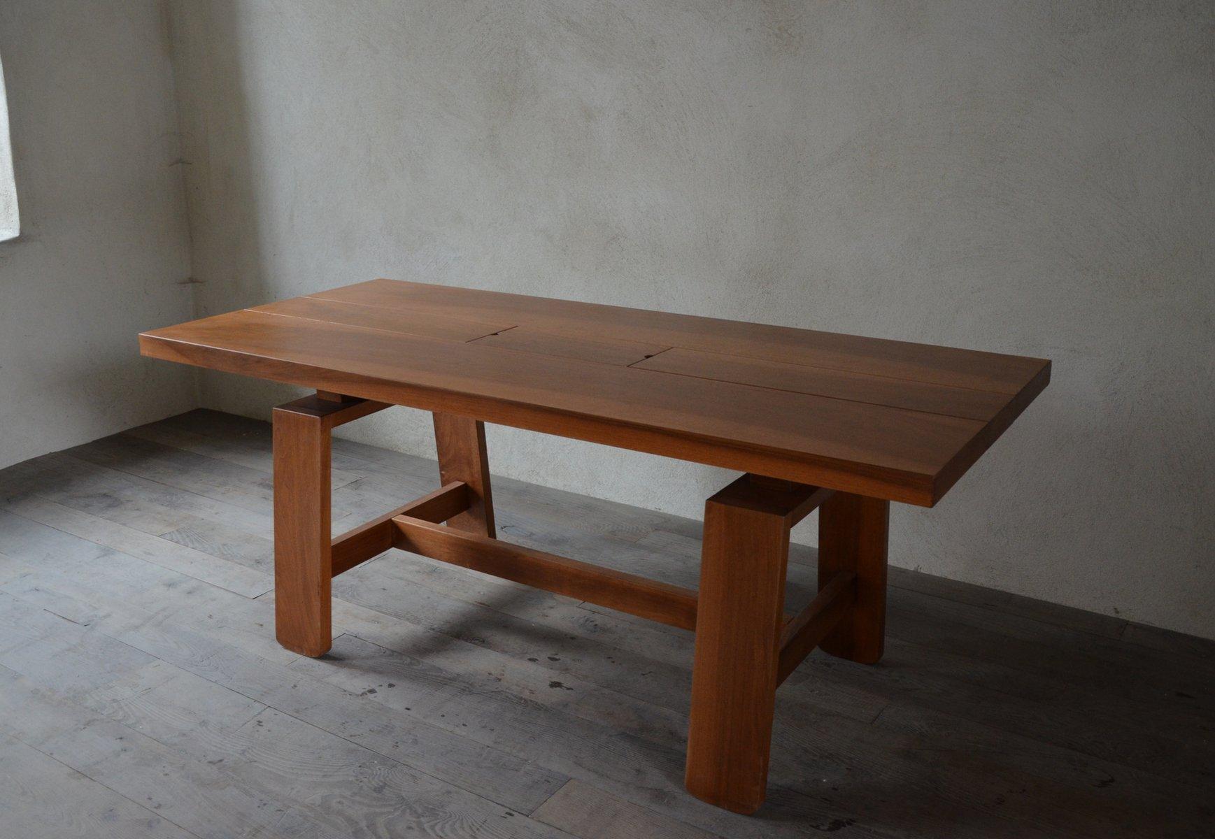 walnuss esstisch von silvio coppola f r bernini 1968 bei pamono kaufen. Black Bedroom Furniture Sets. Home Design Ideas