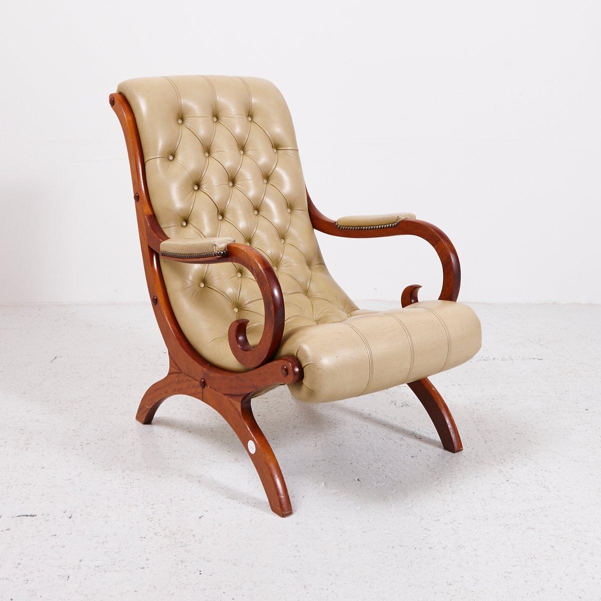 vintage chesterfield ledersessel bei pamono kaufen. Black Bedroom Furniture Sets. Home Design Ideas