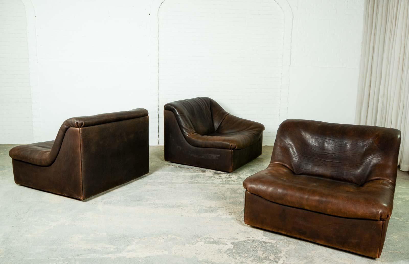 modulares ds46 b ffelleder sofa von de sede 1970er bei pamono kaufen. Black Bedroom Furniture Sets. Home Design Ideas