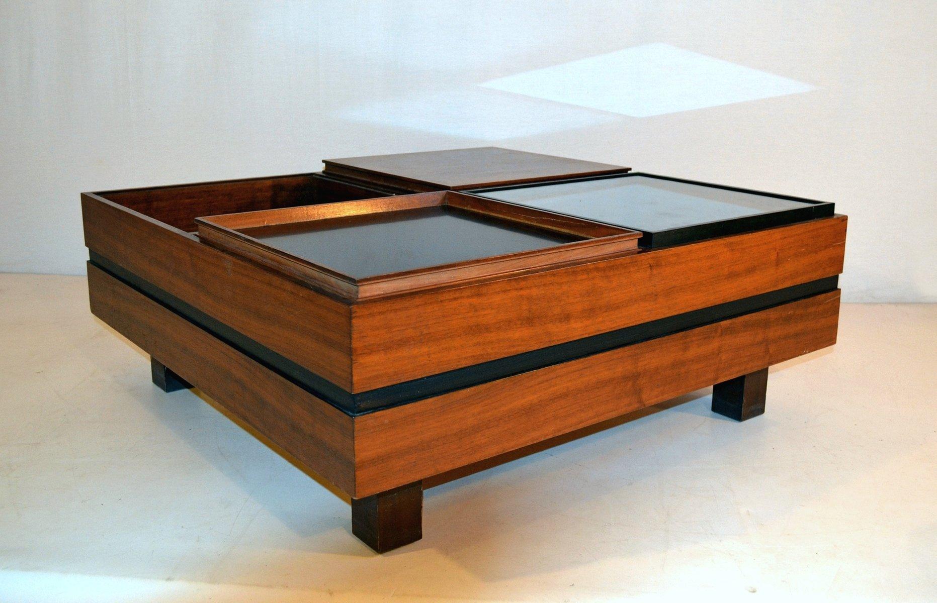 italienischer couchtisch mit aufbewahrung von sormani 1960er bei pamono kaufen. Black Bedroom Furniture Sets. Home Design Ideas